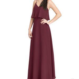 Azazie Cabernet Desiree Dress.